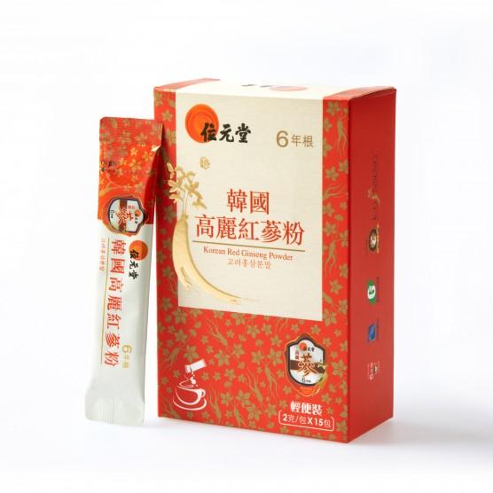 Wai Yuen Tong 6 Years Root Korean Red Ginseng Powder (Sachet Pack)