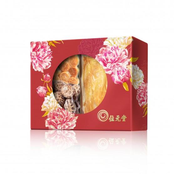 精选海味礼盒 (花菇 + 元贝 + 花胶)